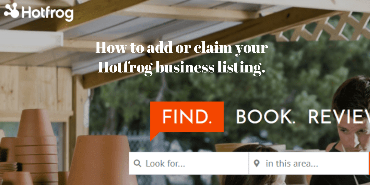 How to add or claim your Hotfrog business listing.