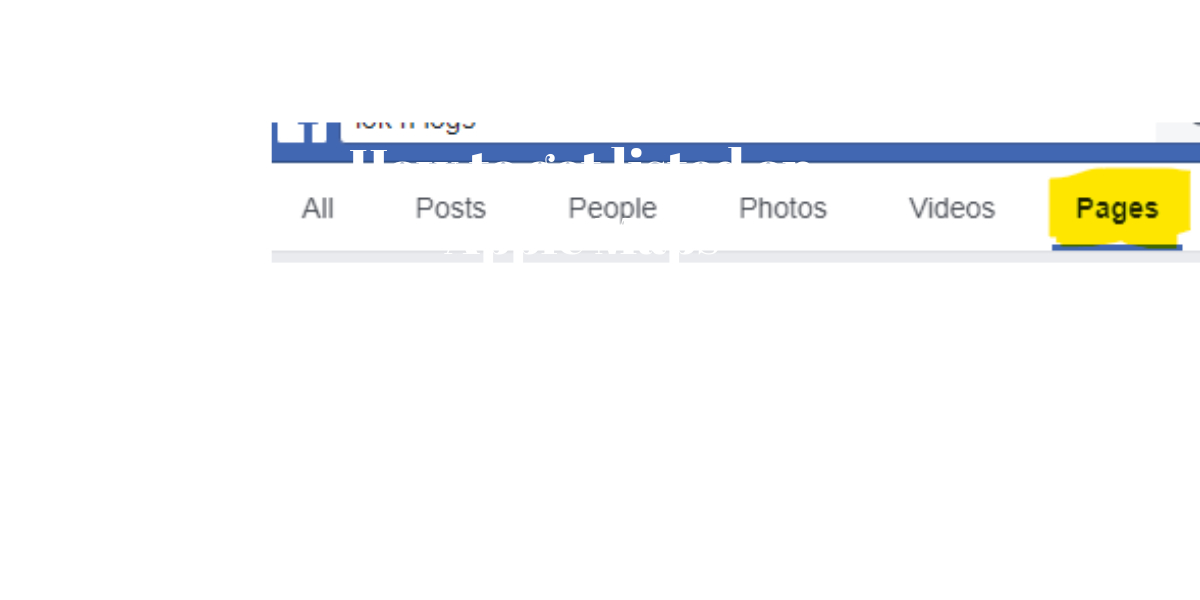 How to get listed on Facebook pages.