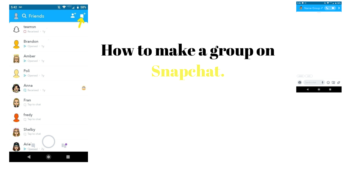 How to make a group on Snapchat.