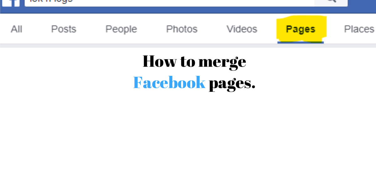 How to merge Facebook pages.