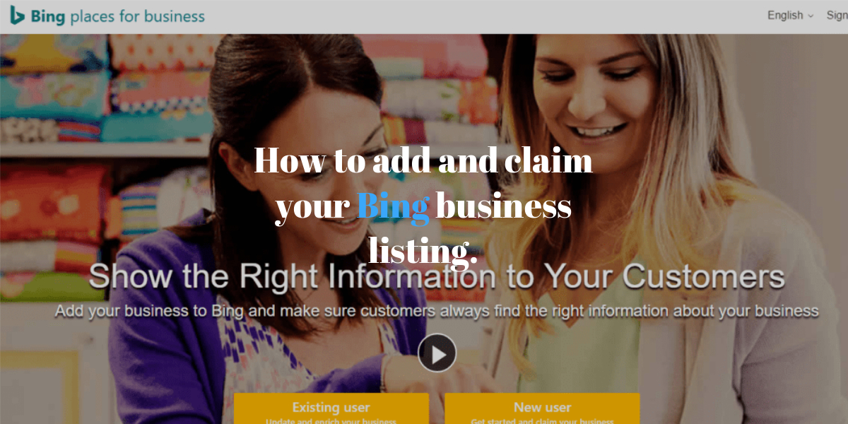How to add and claim your business listing on bing