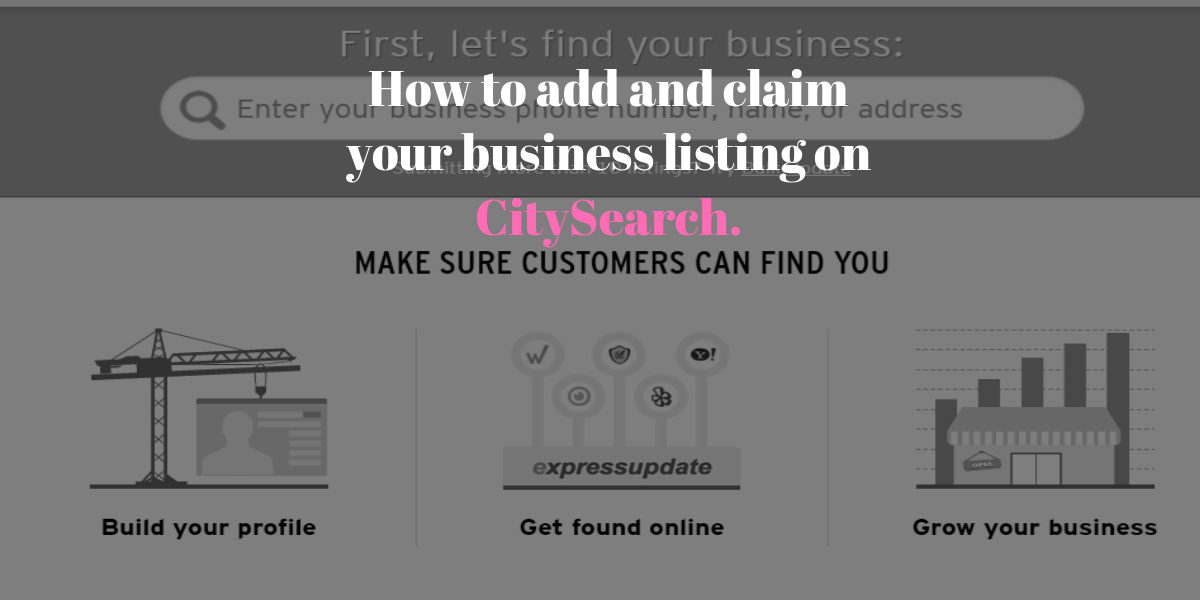 How to add or claim your business to citysearch guide