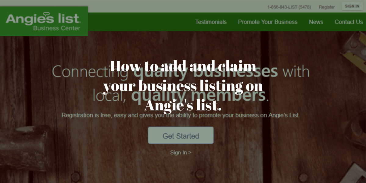 How to add and claim your business listing on Angie's list.