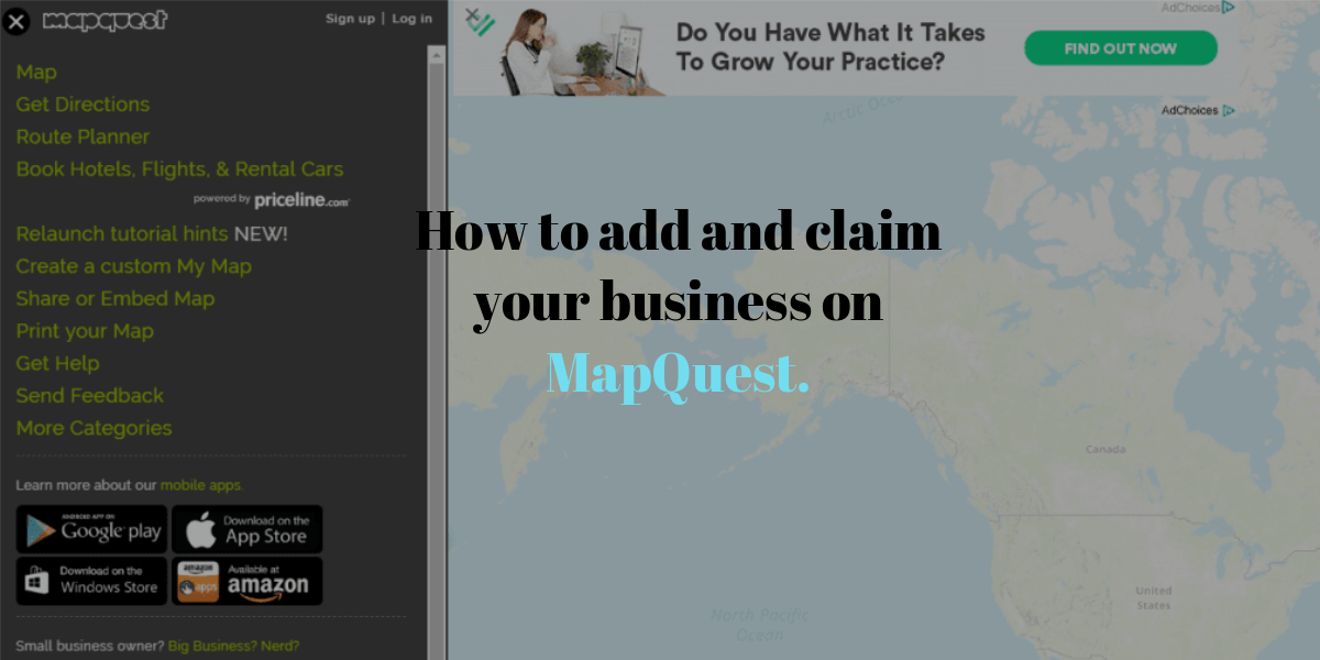 How to add and claim your business on MapQuest.